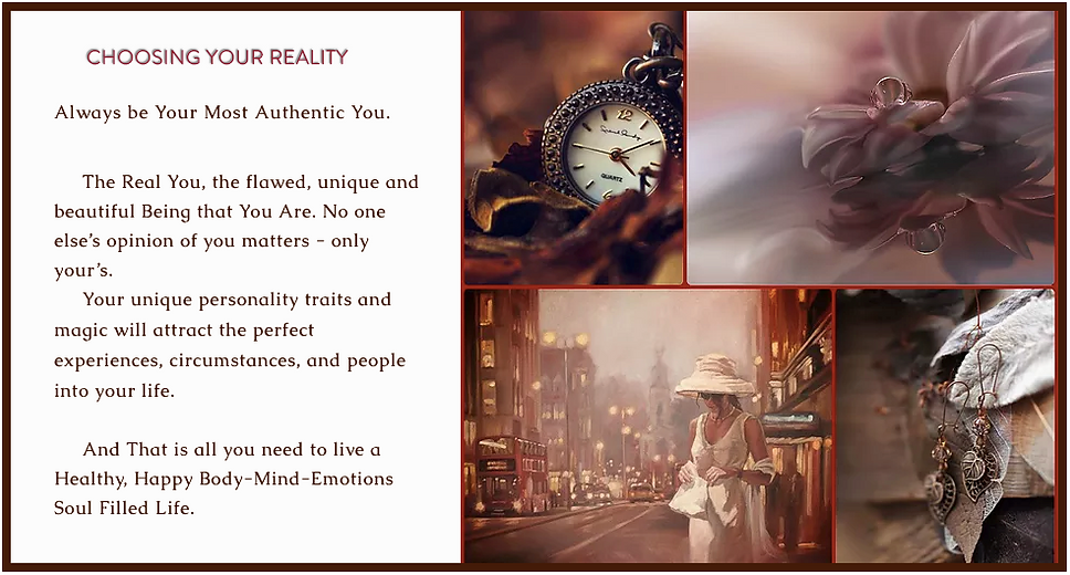 Choosing your Reality Inspirational Quot