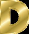 Letter D Gold Alphabet.png