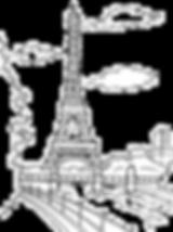 Creatviity Colouring Paris Eiffel Tower.