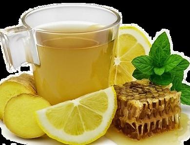 Lemon Ginger Peppermint Honey Tea