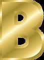 Letter B Gold Alphabet.png