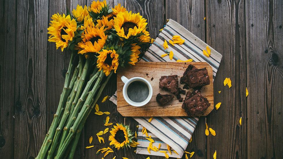 Still Life Sunflowers Coffee Journaling