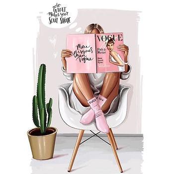 LifeStyle Reading Fashion Illustration R