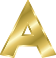 Letter A gold Alphabet .png