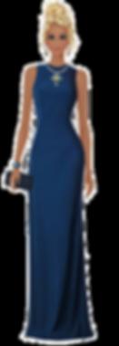 Woman Avatar Elegant Blue Dress.png