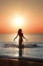 Woman Ocean Sunset Healing Energy Work S