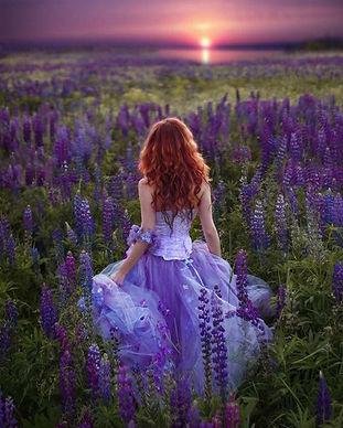 Woman in Lavender Field.JPG