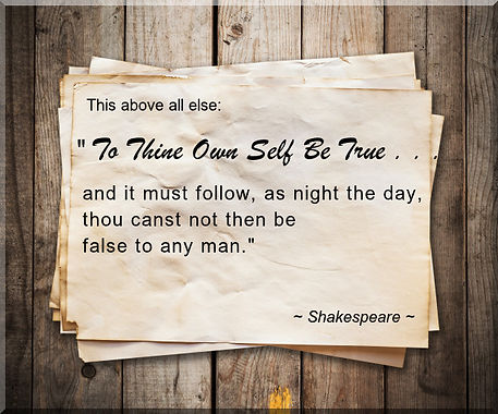 Inspirational Quote Shakespear To Thine