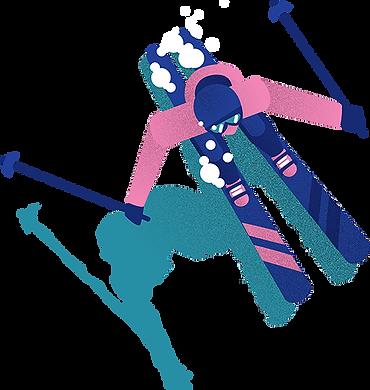 Défi Foly Skier Waterslide Lac des Confins