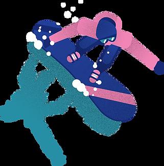 Défi Foly Snowboarder Waterslide La Clusaz