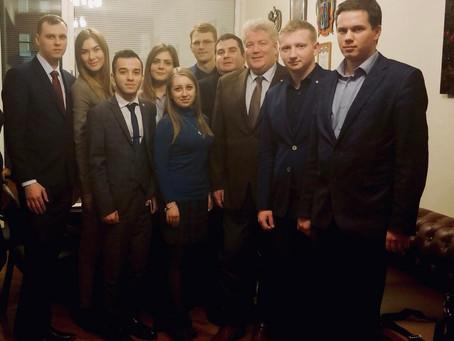 Встреча с делегацией Молодежного парламента при Законодательном Собрании Ростовской области