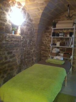 Le coin massage et soins énergétique