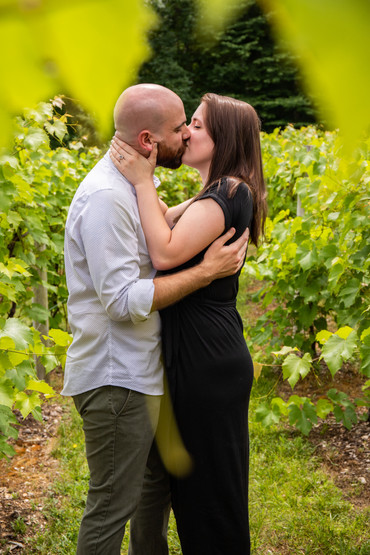 Kim & Ian Summer Engagement Session at Zorvino Vineyards