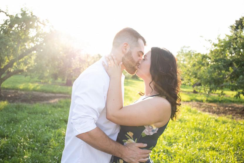 Mandy & Scott Summer Engagement at Brooskby Farm