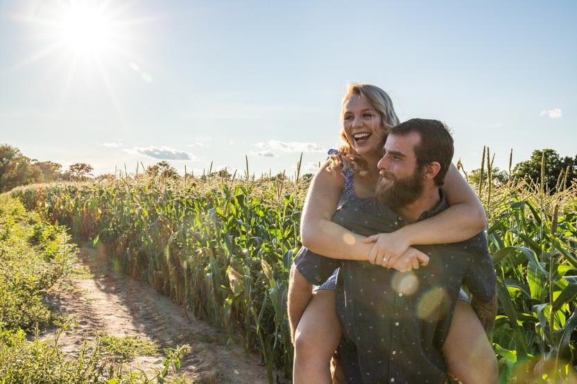 Danielle & James Fall Engagment at Colby Farm