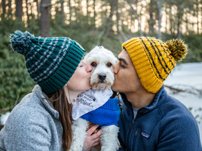 Wintertime Maudslay State Park Engagement Session with Katie and Adnan, February 2020
