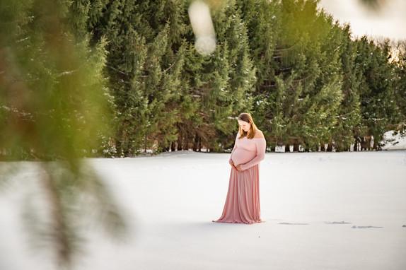 Corkum Family Maternity Photos at Maudslay State Park