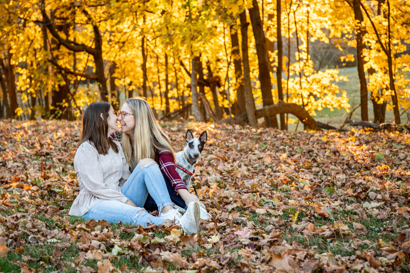 Marisa and Christina Fall Couples Session at Maudslay State Park