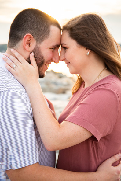 Olivia & Nick Summer Engagement Session on Bearskin Neck in Rockport