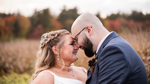 Fall Barn Wedding at Hardy Farm in Fryeburg, Maine with the Sanchez's, October 2021