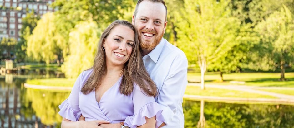 Boston Common Engagement Session with Lisa and Matt, July 2020