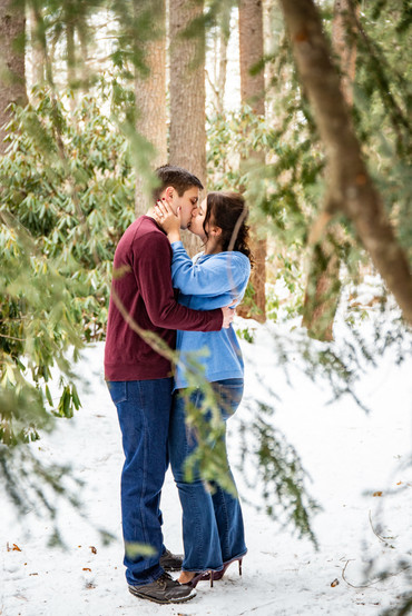 Liz & James Winter Engagement Session in Groton