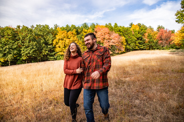 Stephanie & Dan Fall Engagement at Mount Holyoke Coll