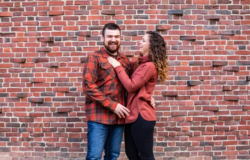 Stephanie & Dan Fall Engagement at Mount Holyoke College