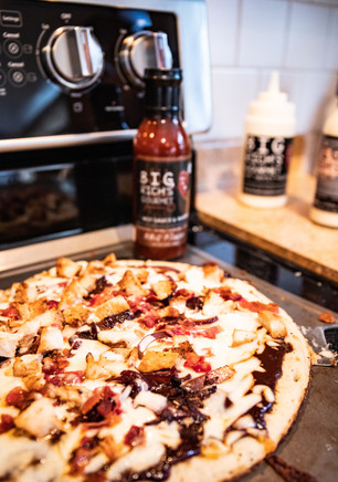 Big Rich's Hot Sauce Product Shoot (Pizza)