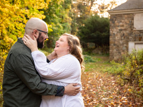 Maudslay State Park Engagement Session with Shannon and Andrew, October 2020