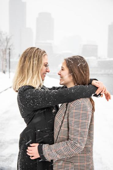 Marisa and Christina winter engagement session