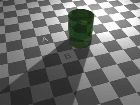 Which Square is darker, A or B?