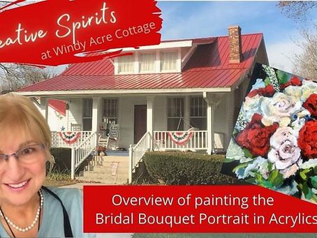 Painting the Bridal Bouquet Portrait
