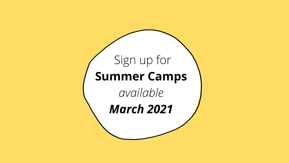 Sign up for Summer Camps available March