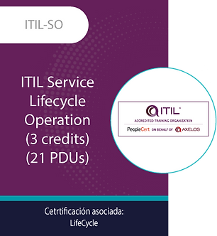 ITIL-SO | ITIL Service Lifecycle - Operation (21 PDUs)