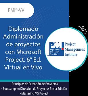PMI®-VV | Diplomado Administración de proyectos con Microsoft Project. 6 Ed.