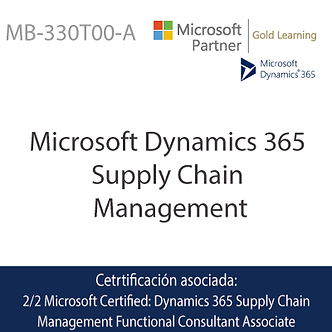 MB-330T00-A | Microsoft Dynamics 365 Supply Chain Management