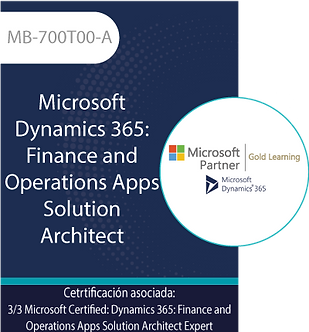 MB-700T00-A | Microsoft Dynamics 365 Finance and Operations Apps Solution Archit