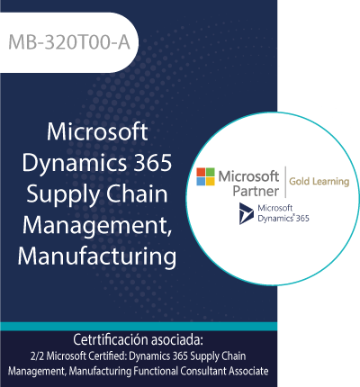 MB-320T00-A | Microsoft Dynamics 365 Supply Chain Management, Manufacturing