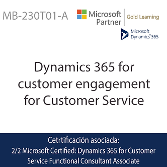 MB-230T01-A | Dynamics 365 for customer engagement for customer service