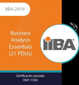 IIBA-2919 | Business Analysis Essentials (21 PDUs)