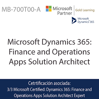 MB-700T00-A   Microsoft Dynamics 365 Finance and Operations Apps Solution Archit