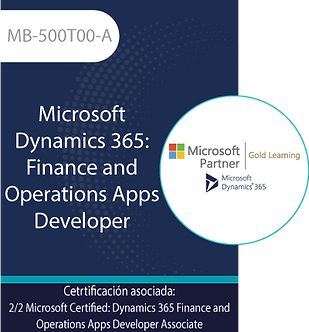 MB-500T00-A | Microsoft Dynamics 365: Finance and Operations Apps Developer