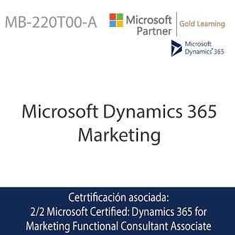 MB-220T00-A   Microsoft Dynamics 365 Marketing