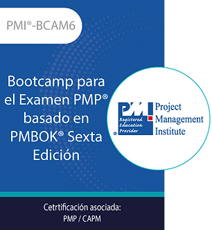 BCAM6 | Bootcamp para el Examen PMP® basado en la Guía del PMBOK® Sexta Edición