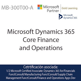 MB-300T00-A | Microsoft Finance and Operations Core
