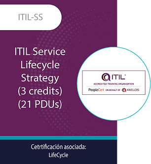 ITIL-SS | ITIL Service Lifecycle - Strategy (3 credits) (21 PDUs)