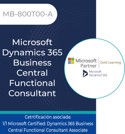 MB-800T00-A | Microsoft Dynamics 365 Business Central Functional Consultant