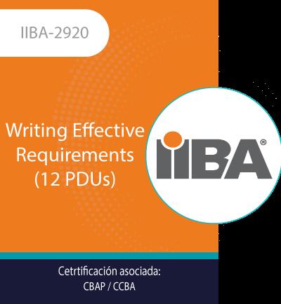 IIBA-2920 | Writing Effective Requirements