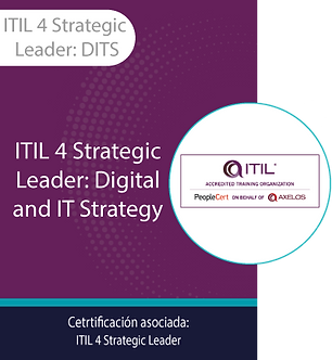 ITIL 4 Strategic Leader: DITS | ITIL Strategic Leader: Digital and IT Strategy